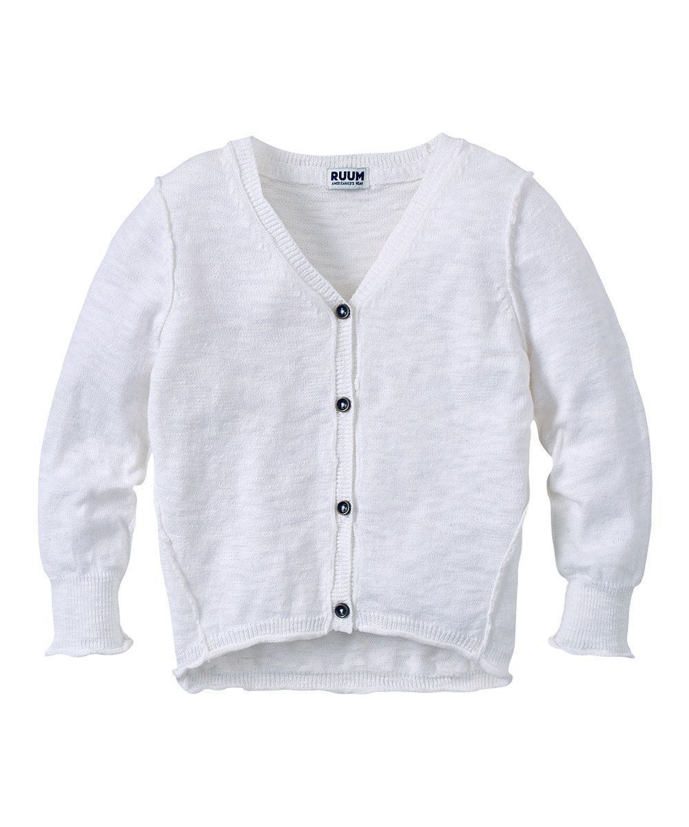 Another great find on #zulily! White Cardigan - Infant & Toddler by RUUM #zulilyfinds