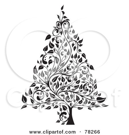 50++ Black and white christmas tree clipart ideas in 2021