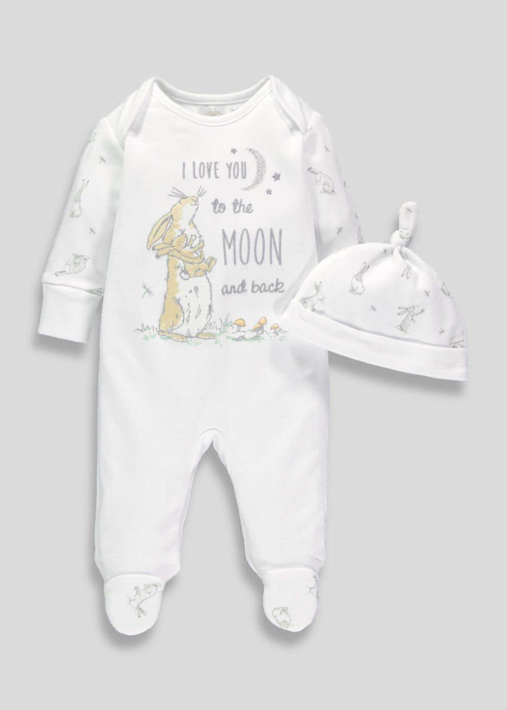 43969873e Unisex Guess How Much I Love You Sleepsuit & Hat Set (Tiny Baby ...