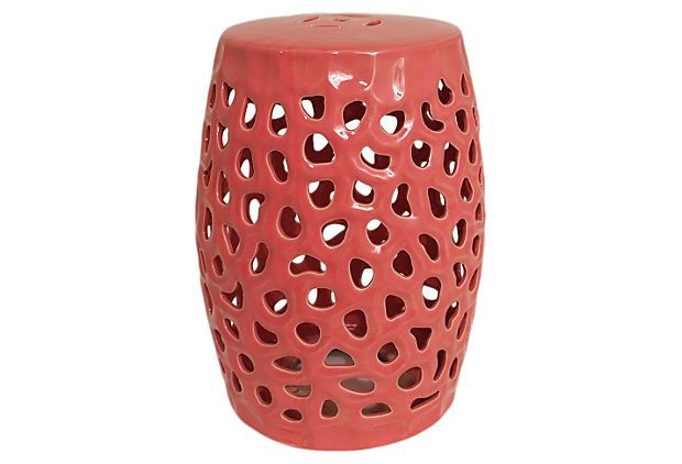 Awesome Pierced Ceramic Garden Stool Coral In 2019 Ceramic Garden Machost Co Dining Chair Design Ideas Machostcouk