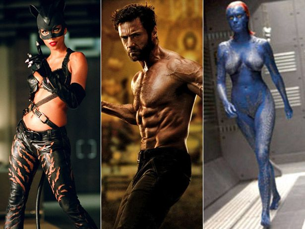 Most skin tight superhero costumes.  :-)