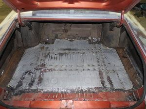 1967 Chrysler 300 Replace The Truck Floor Pan Due To The Previous Being Covered In Rust Chrysler 300 Chrysler Classic Cars