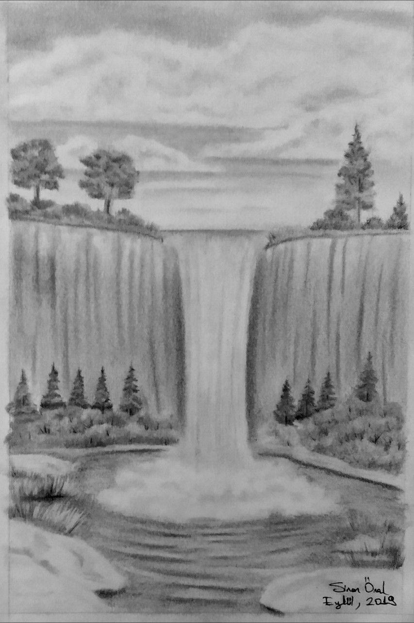 fc5cfb3eaba2826ae5152adeb7158a03 » Realistic Pencil Waterfall