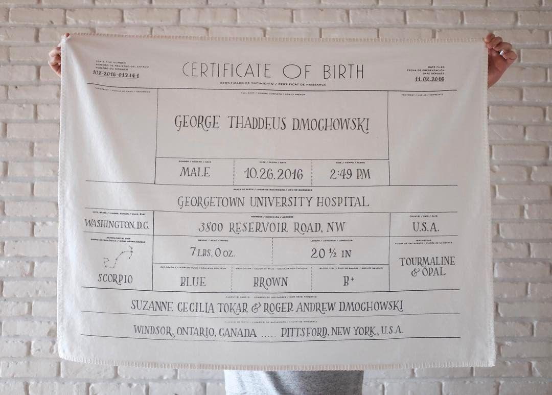 birth certificate instagram fun washington dc georgetown university much