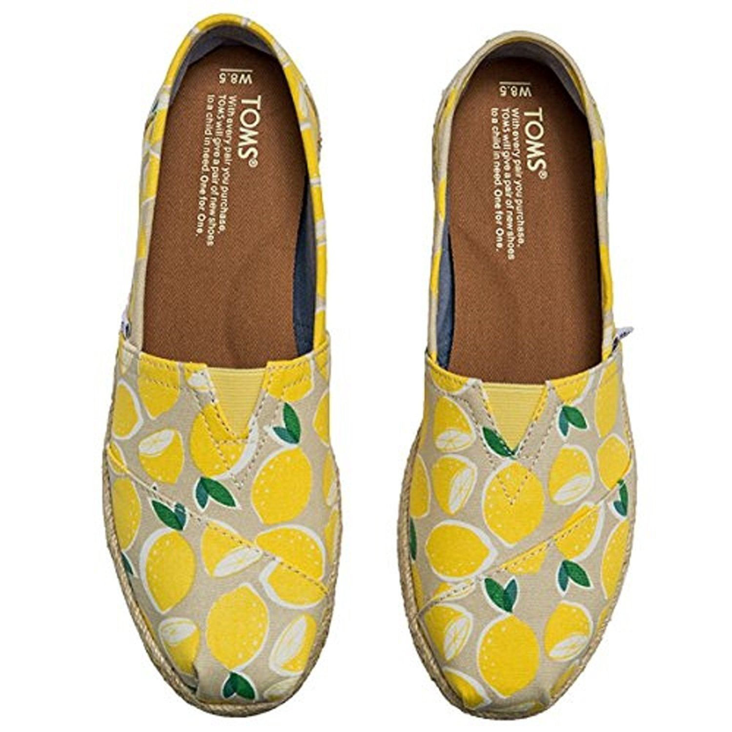 cc76546c69a38 Amazon.com | Toms Yellow Lemon Rope Sole | Fashion Sneakers | why ...