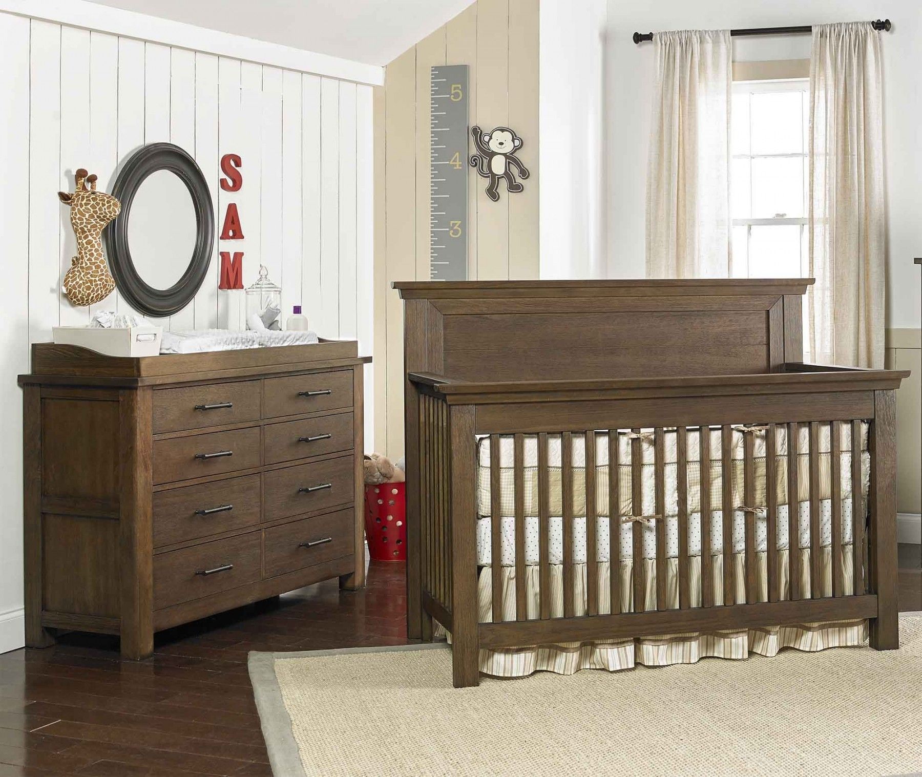 Dolce Babi Lucca 2 Piece Nursery Set With Flat Top In Seashell