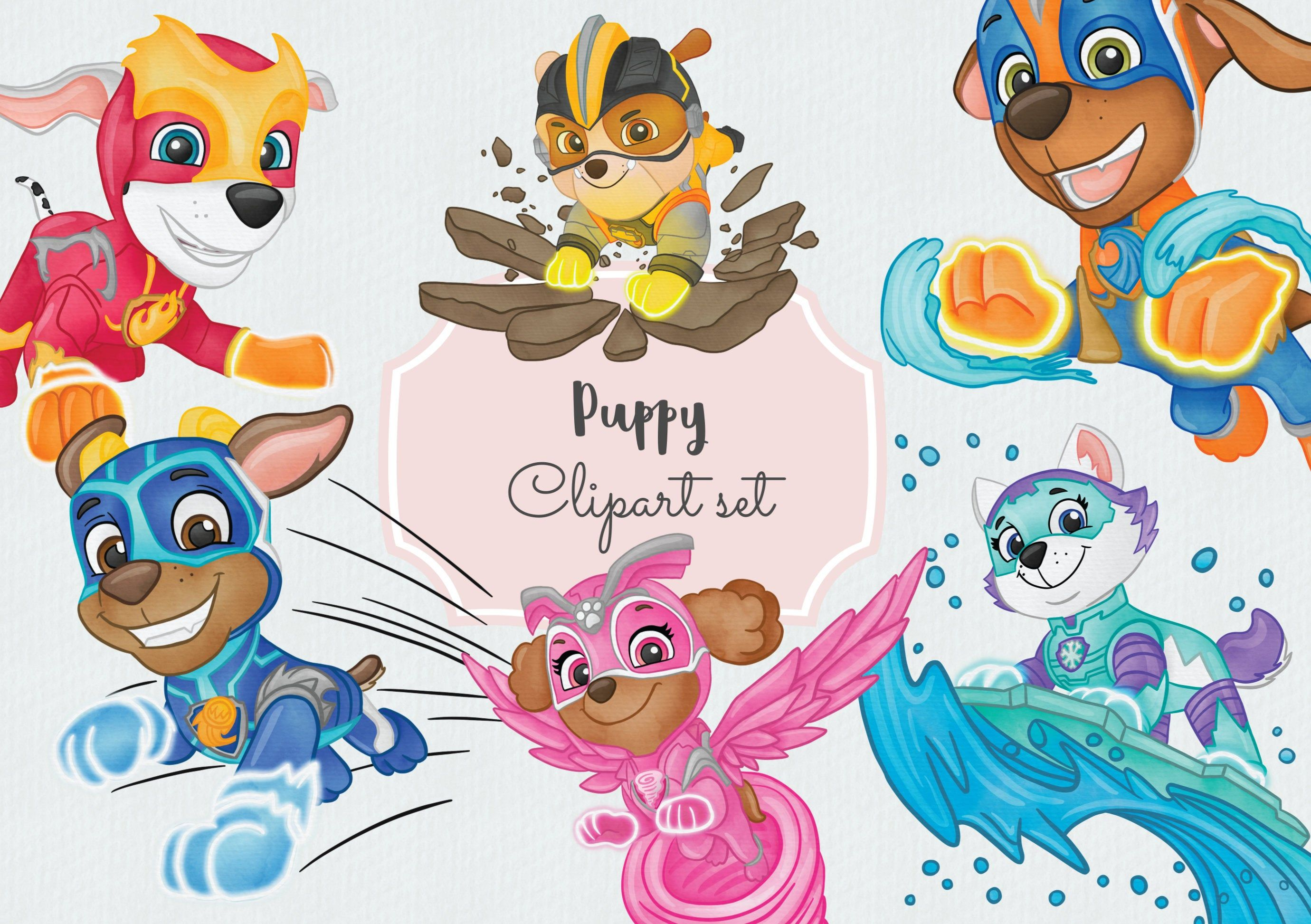 Excited To Share The Latest Addition To My Etsy Shop Watercolor Paw Patrol Mighty Pups Hand Drawn Cl Paw Patrol Birthday Paw Patrol Pups Paw Patrol Super Pup