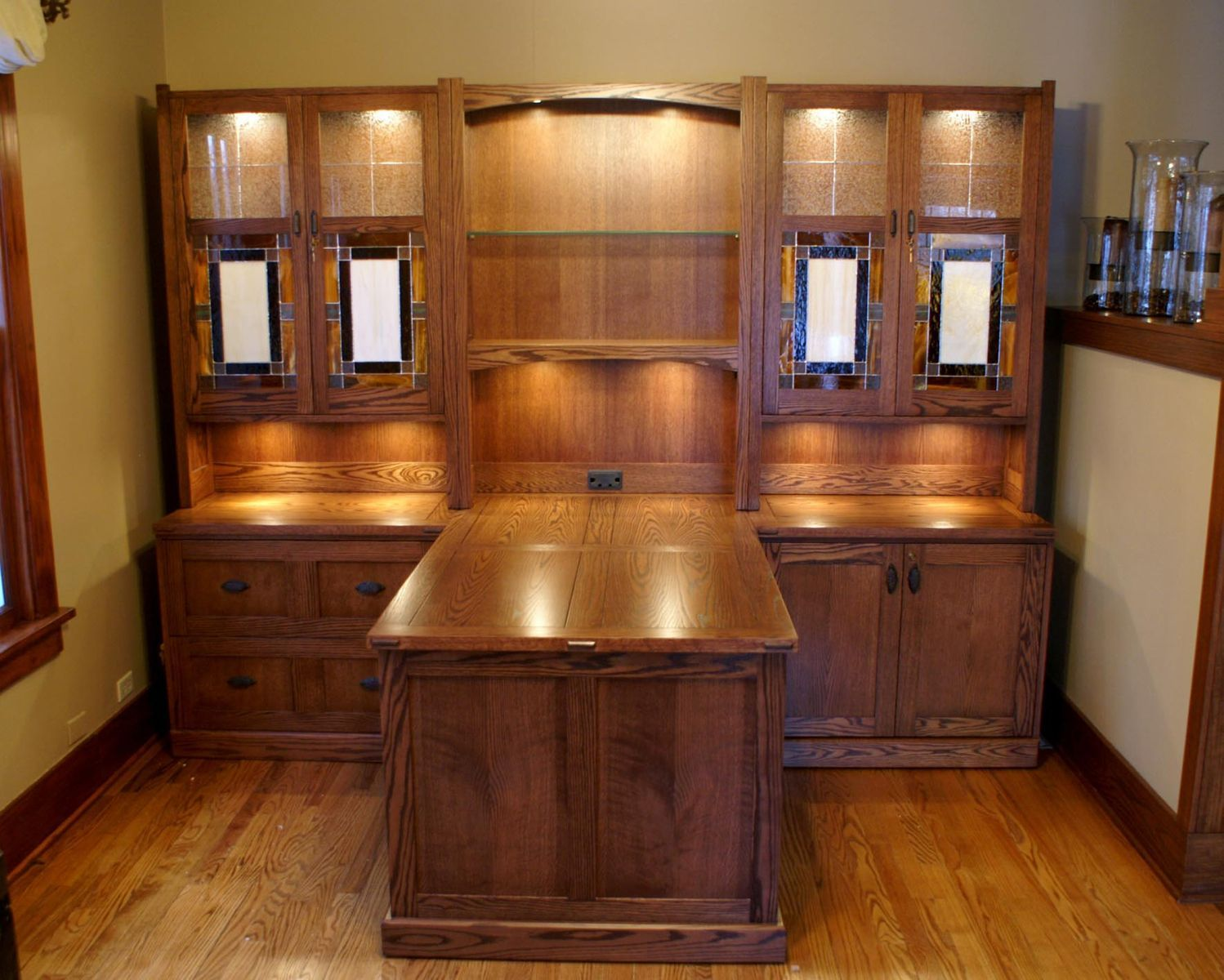 custom made office furniture. custom made craftsman style desk system office furniture
