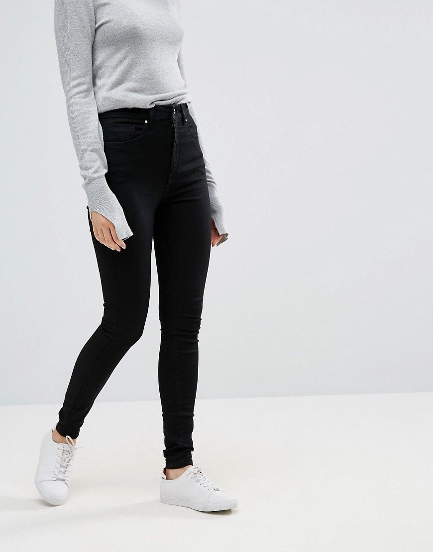 2018 Unisex Sale Online Manchester Online Sculpt Me High Rise Premium Jeans in Clean Black - Black Asos Petite Free Shipping 2018 Clearance Low Price Find Great 7vyzKXch