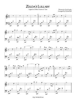 Zelda S Lullaby With Images Piano Sheet Music Free Violin