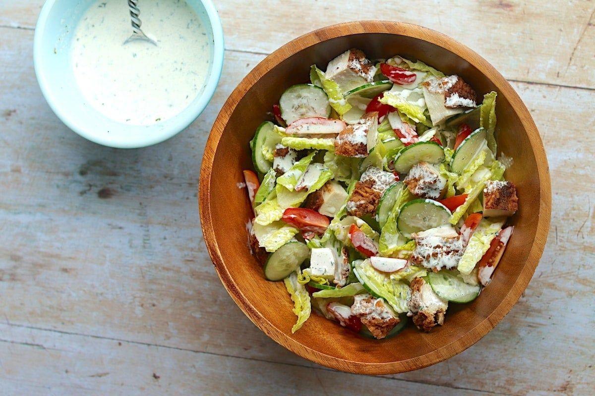 Buttermilk Salad Dressing Recipe Recipe In 2020 Salad Dressing Recipes Buttermilk Salad Dressing Salad