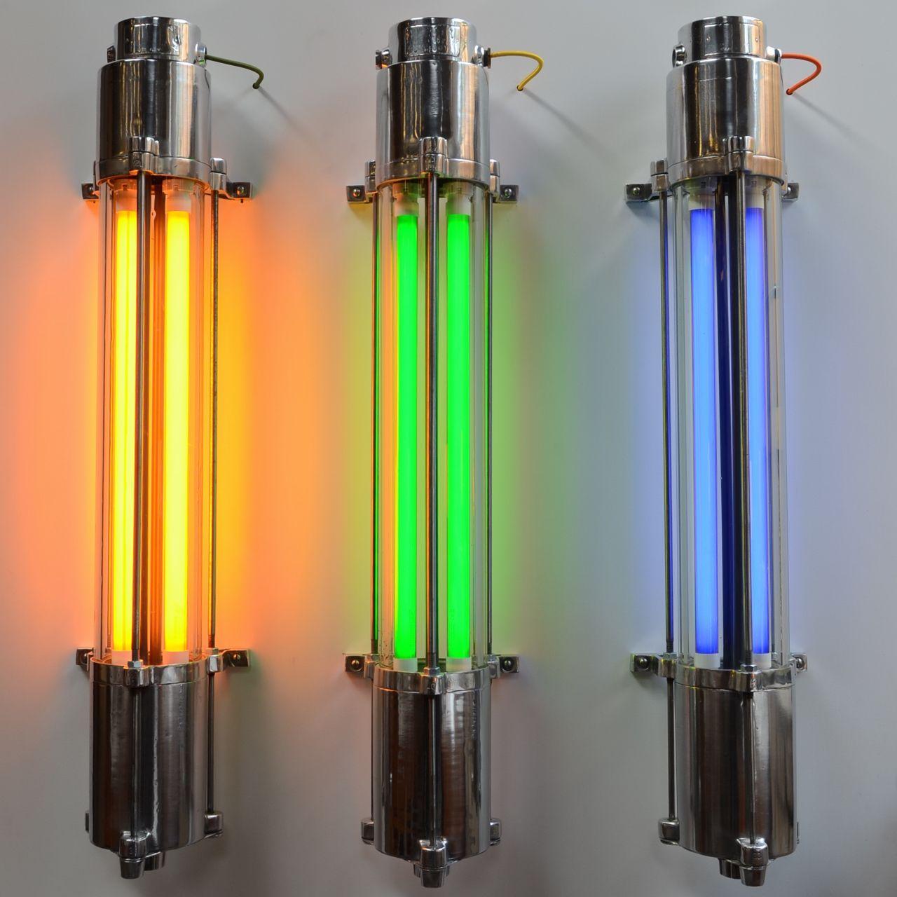 Vintage Industrial Fluorescent Light: Communist Fluorescent Tube Light -Short Polished In 2019