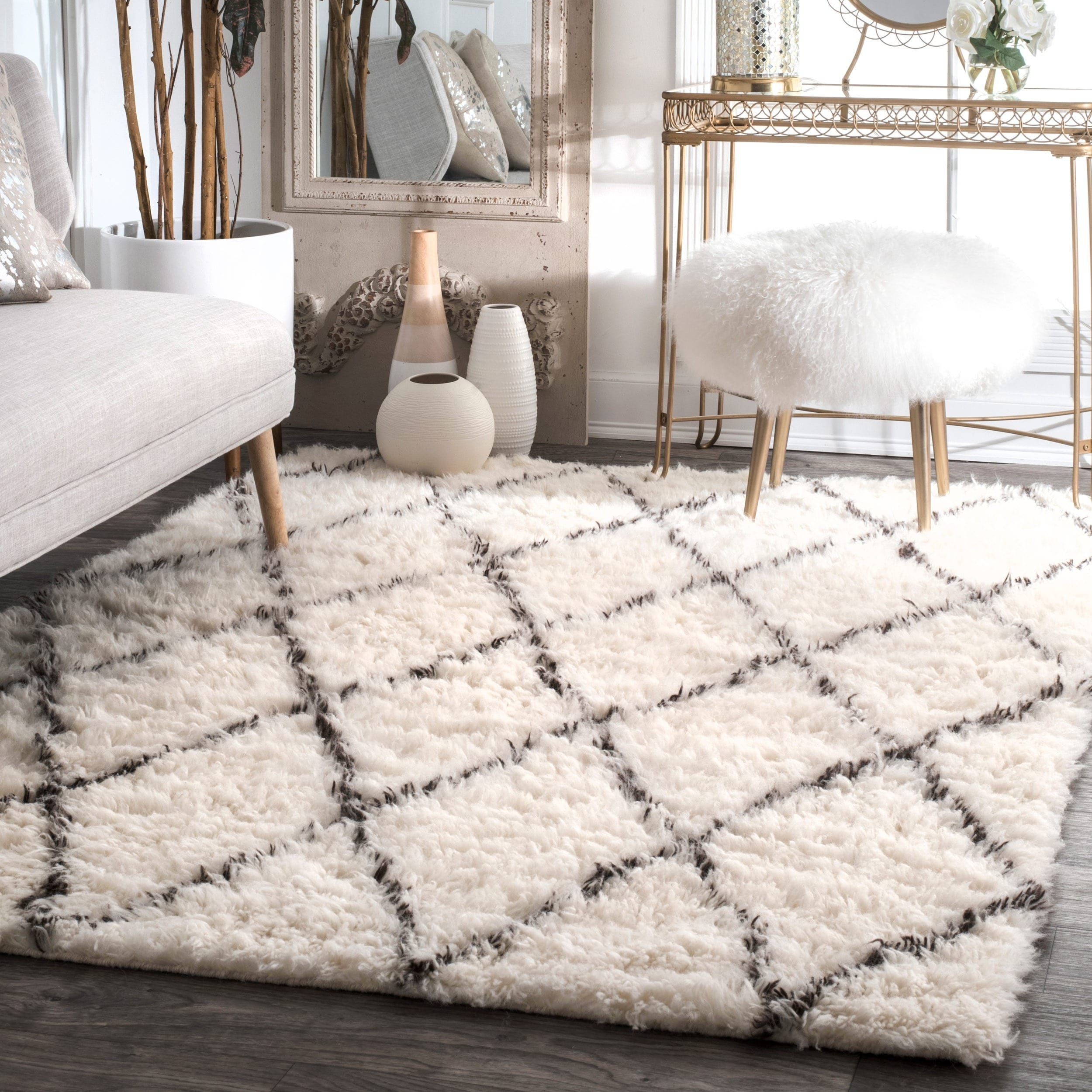 Nuloom Handmade Moroccan Style New Zealand Wool Rug Ping