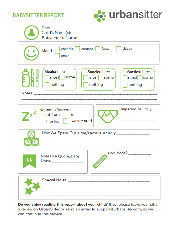 Dynamic image intended for babysitter forms printable free