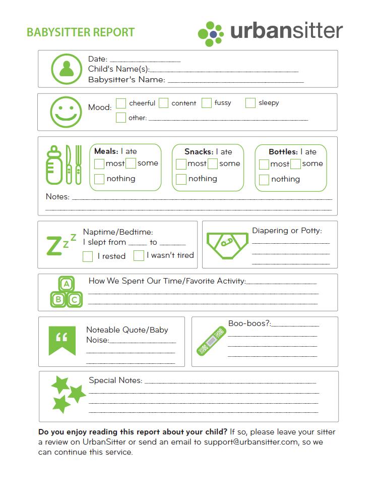photo regarding Babysitter Forms Printable Free named Babysitter Post Type (printable Sizeable content