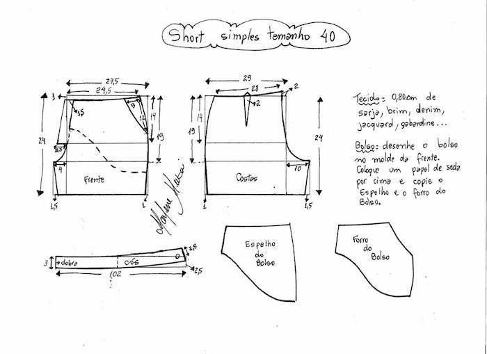 Patrones para hacer pantalón corto de verano. | COSTURA | Pinterest ...