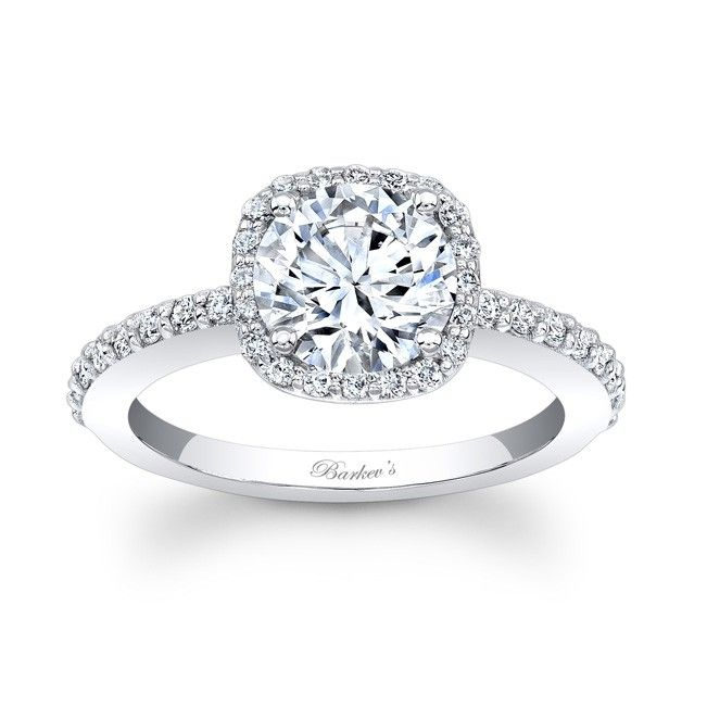perfect size 026 ct halo and 100 ct center stone make it a round - Perfect Wedding Ring