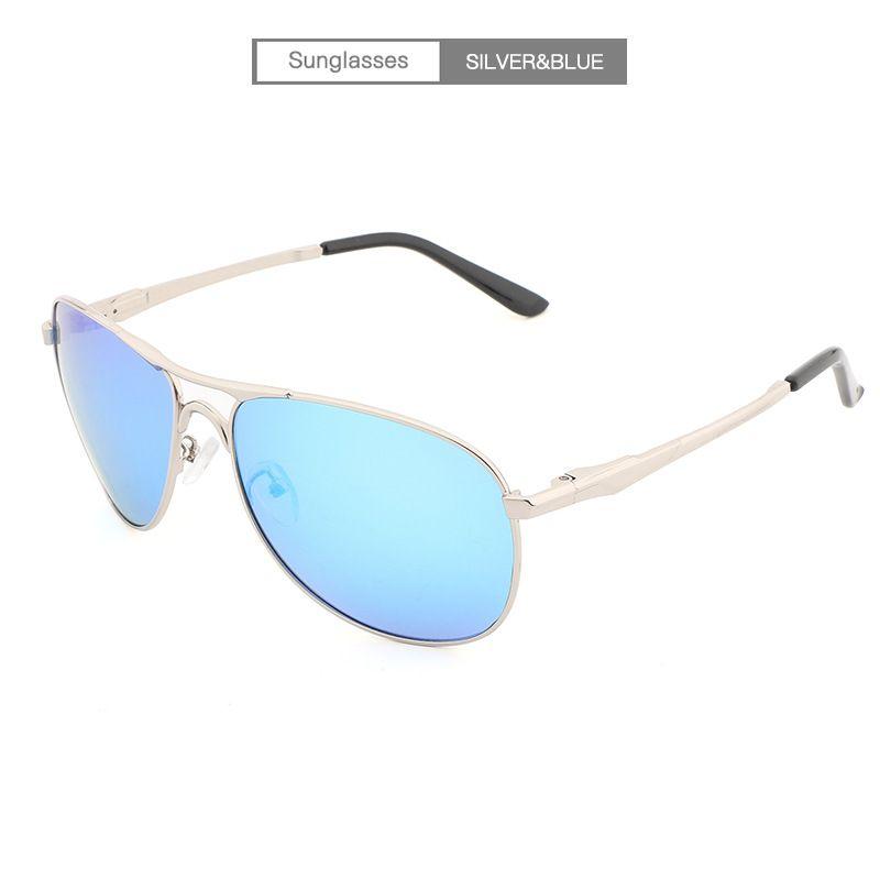 Mode Sonnenbrille Klassische Beliebte Fahren Polarisierte Sonnenbrillen,TransparentWhiteSilver