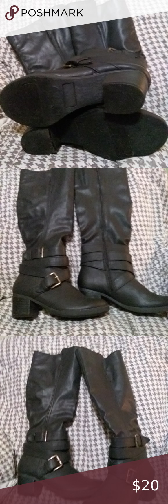 Ladies black boots size 7 in 2020