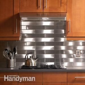 unique kitchen cabinets stainless steel kitchen backsplash the family handyman 3048