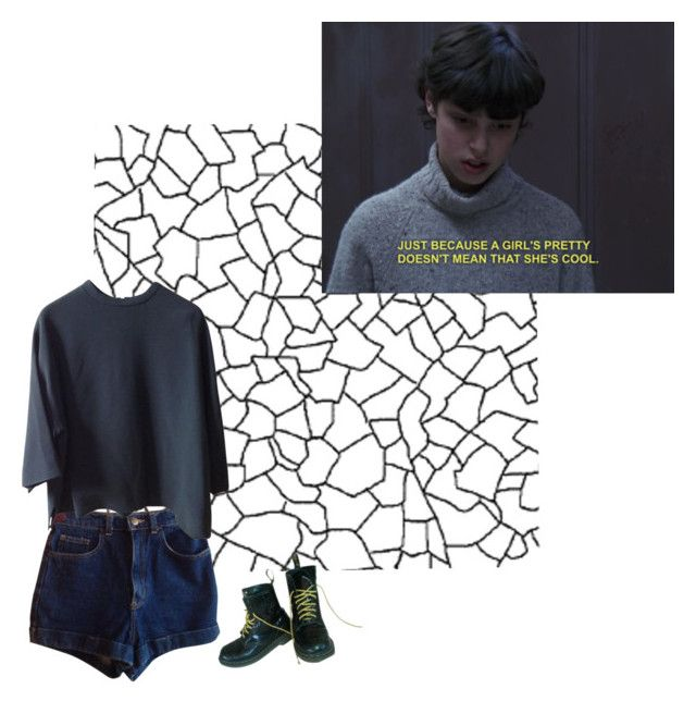 """""""what does it matter"""" by hi-im-aud ❤ liked on Polyvore featuring American Apparel and Dr. Martens"""