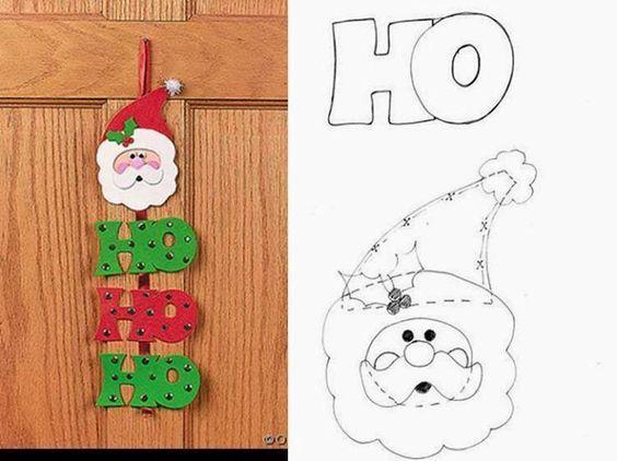 20 Moldes Papai Noel para Imprimir   Navidad, Frascos y Decoraciones ...