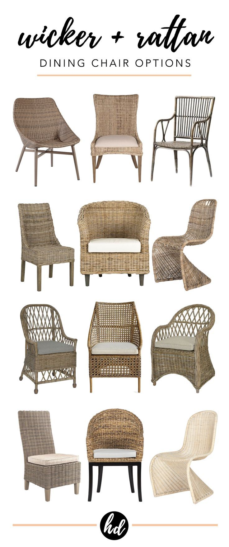 Farmhouse style 12 wicker dining chairs under 360 each