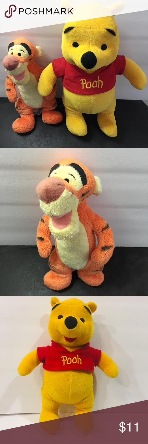 "Mattel Arcotoys Inc Winnie the Pooh Bear Stuffed Doll Animal Toy Plush 11/"""