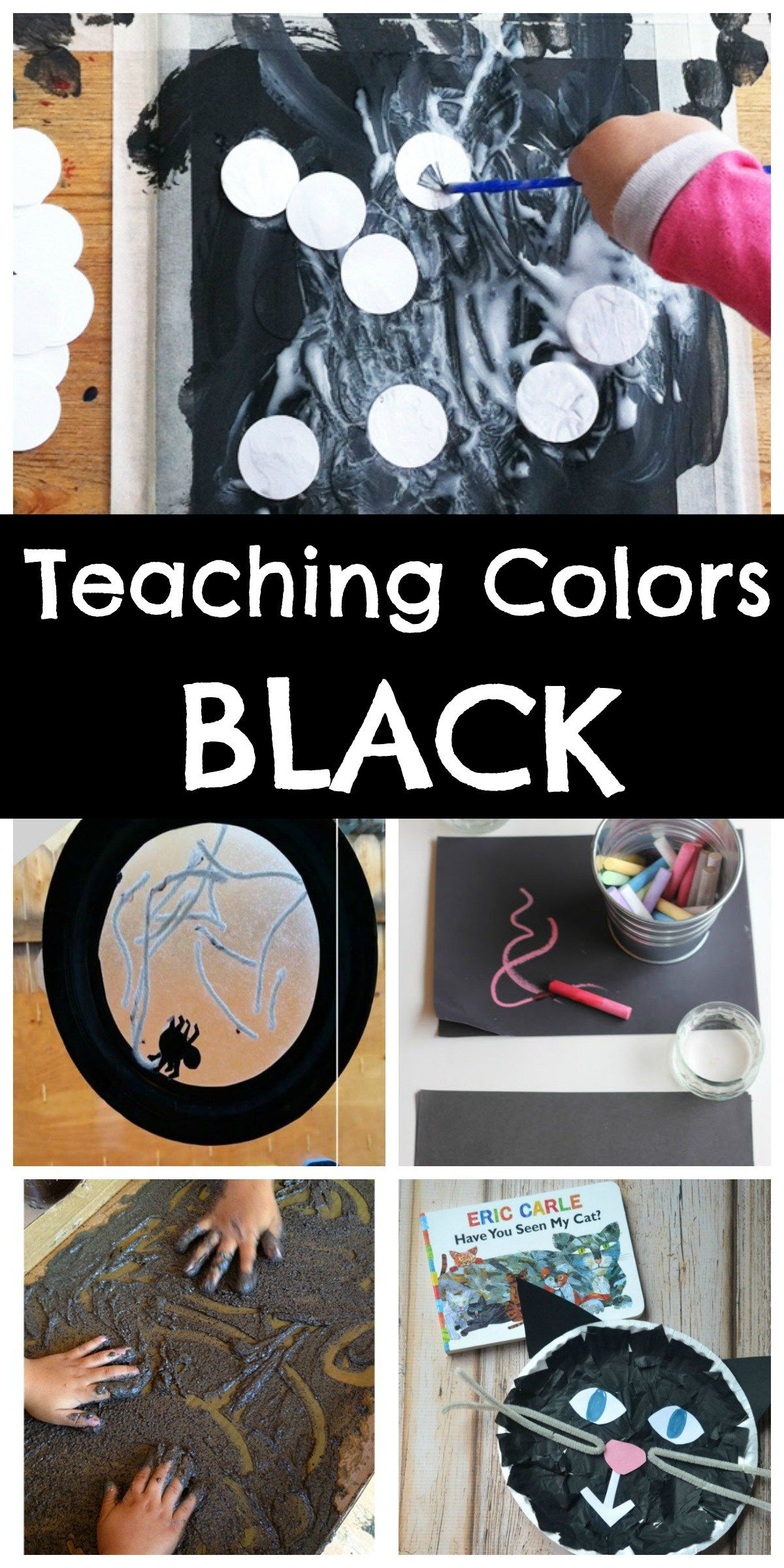Teaching colors to preschoolers black crafts songs activities and sensory fun to teach the color black love it all