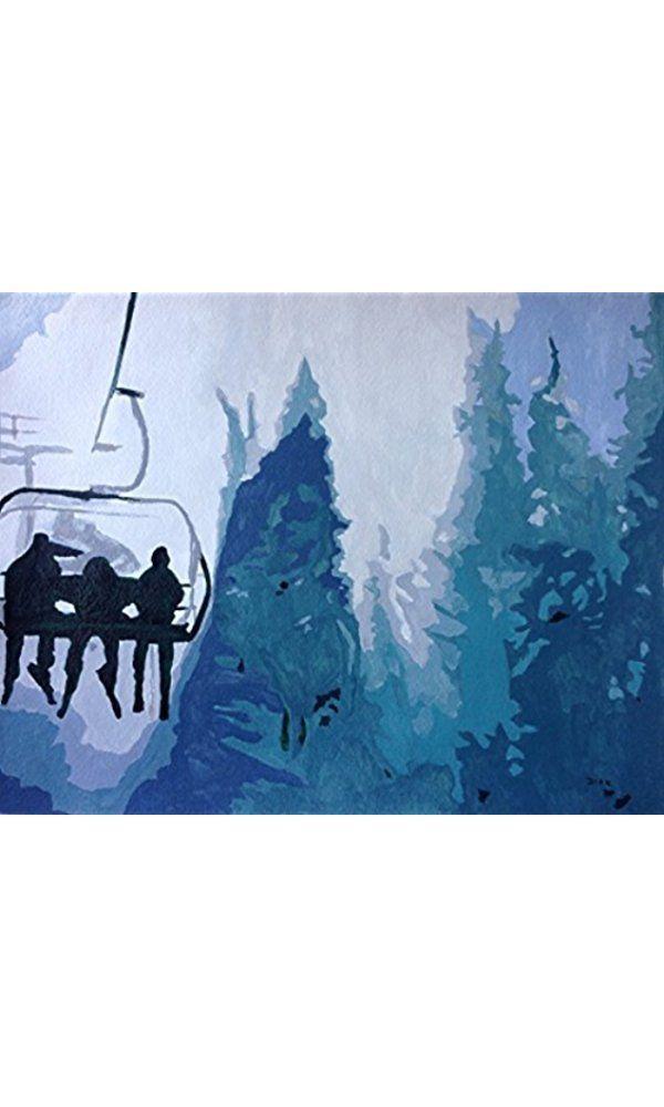 Skiers - Sports Art Best Price
