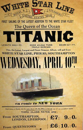 Titanic Poster by TIMKIELY