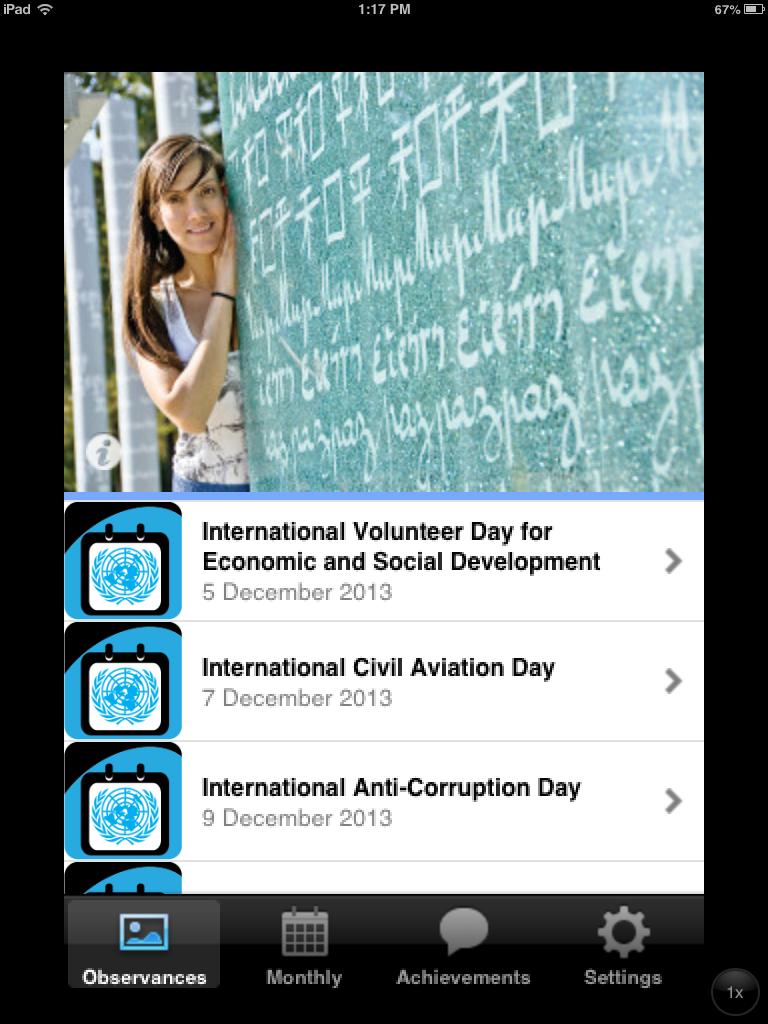 UN DPI launches the UN Calendar of Observances iPhone app