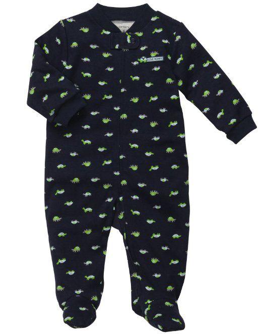 e767cd294f1f Amazon.com  Carters I Love Mommy Turtle Zip Up Sleep   Play  Baby ...