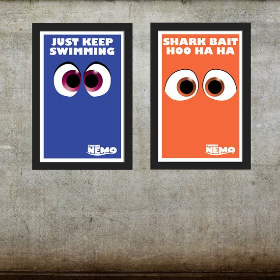 Finding Nemo Gang - Your Choice of One (1) - Finding Nemo Inspired / Disney Pixar Inspired - Movie Art Poster on Etsy, $11.95