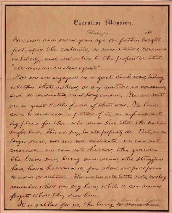 The Very Best Words Gettysburg Address Gettysburg Abraham