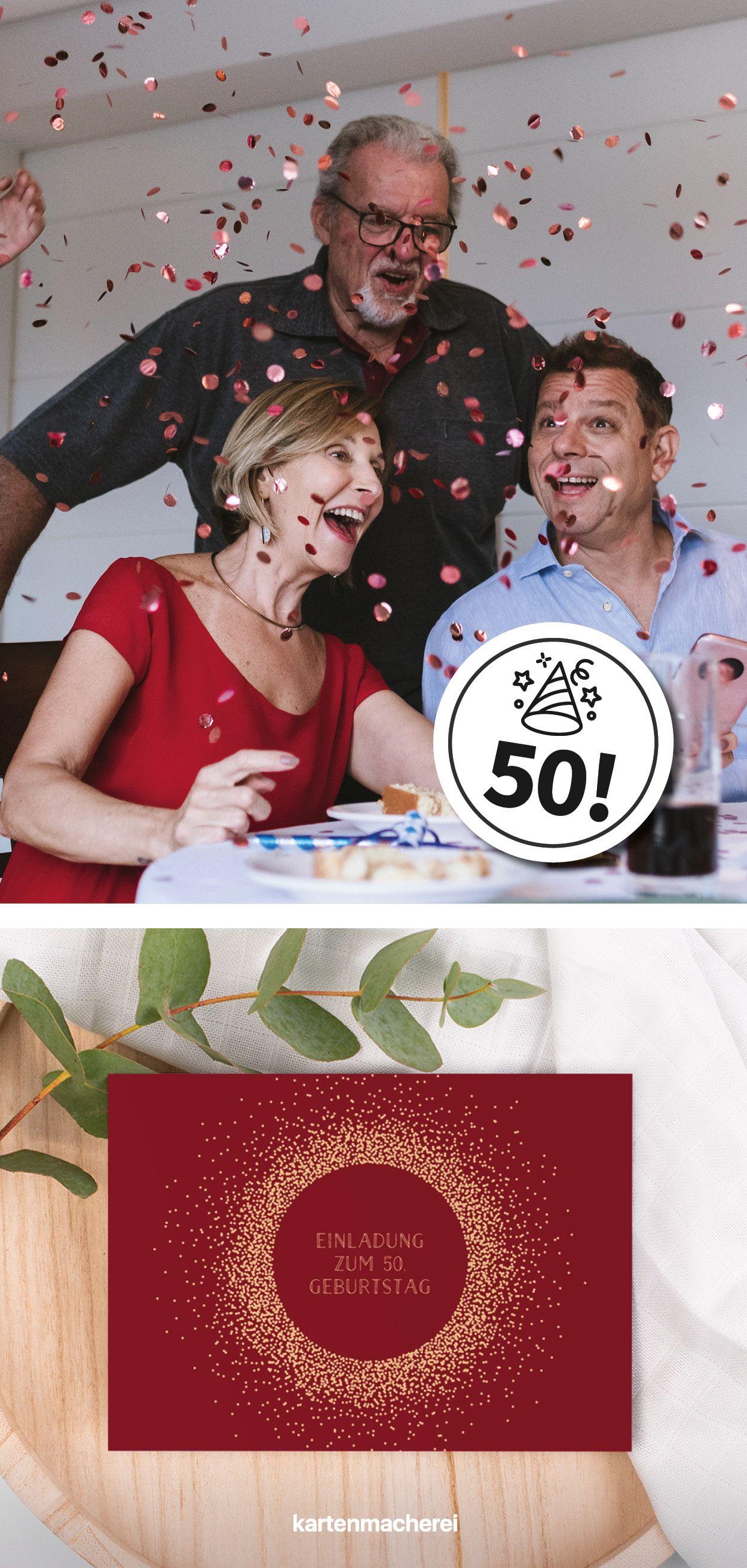 Pin Auf 50 Geburtstag Einladungen Deko Ideen