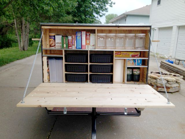 Camping Trailer Pantry All Things Camping Utility Trailer