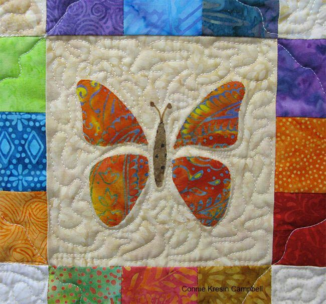 Scrappy Butterfly Baby Quilt Tutorial | Butterfly baby, Butterfly ... : butterfly baby quilt pattern - Adamdwight.com