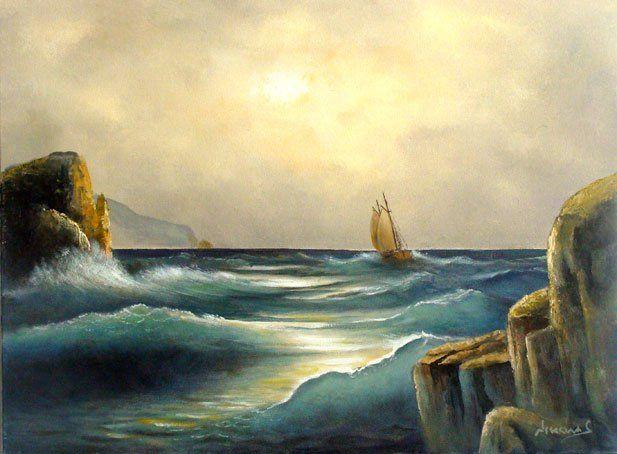 Αυθεντικοί πίνακες και καλλιτεχνικά αντίγραφα σε καμβά – Nikolas art Athens - καράβια - θαλασσογραφίες