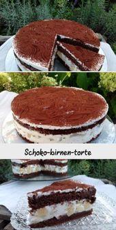 Schoko-birnen-torte – #Schokobirnentorte – #Schokobirnentorte