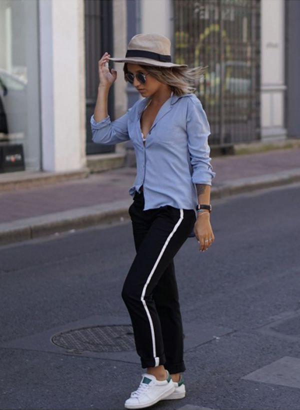 You can never go wrong in a pair of classic black stripe joggers. Camille  Callen