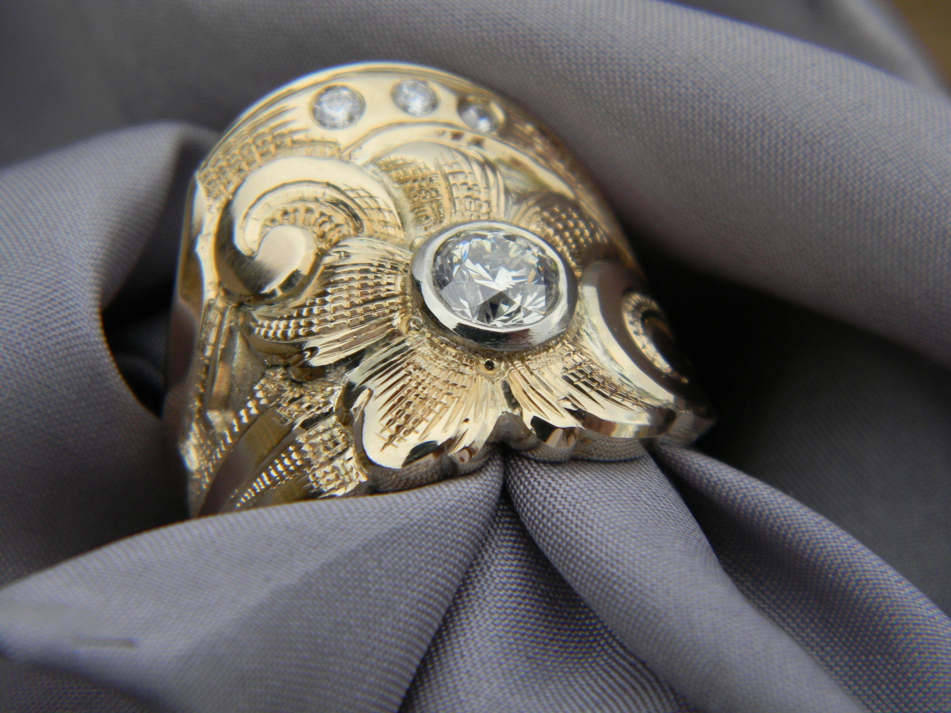 Custom western wedding ring western wedding rings