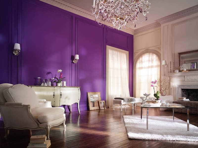 Purple Living Rooms  Purple Wall Paint Ideas For Living Room Inspiration Paint Design For Living Room Walls Review