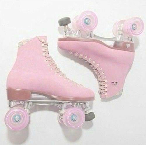 Pink Pastel And Skate Image Pink Roller Skates Retro Roller Skates Roller Skate Shoes