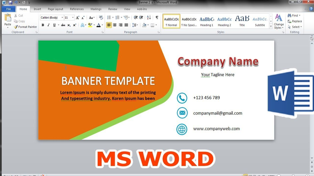 How To Make Banner Design Microsoft Word Template 2010 With Regard To Banner Template Word 2010 Great Cretive Banner Design How To Make Banners Word Template