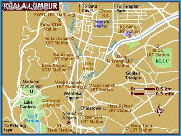 Kuala Lumpur Map Tourist Attractions httptravelsfinderscom