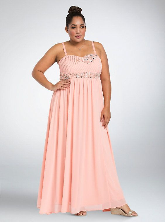 65fdbea27d4 Special Event Bejeweled Pleated Chiffon Gown