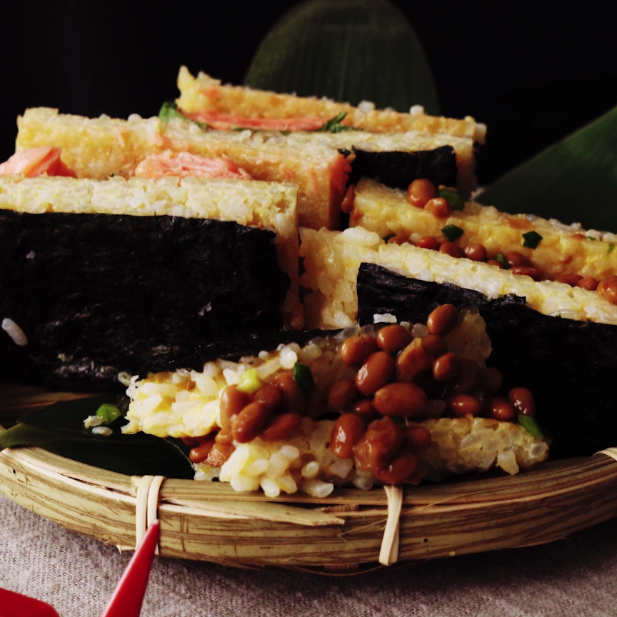 Japanese breakfast rice sandwiches recipe food recipes and food ideas forumfinder Gallery