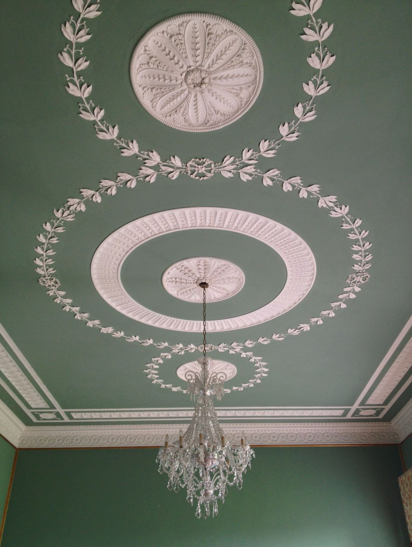 better ceiling decoration with molding georgian | Plaster ceiling, Townley Hall, County Louth, Ireland ...