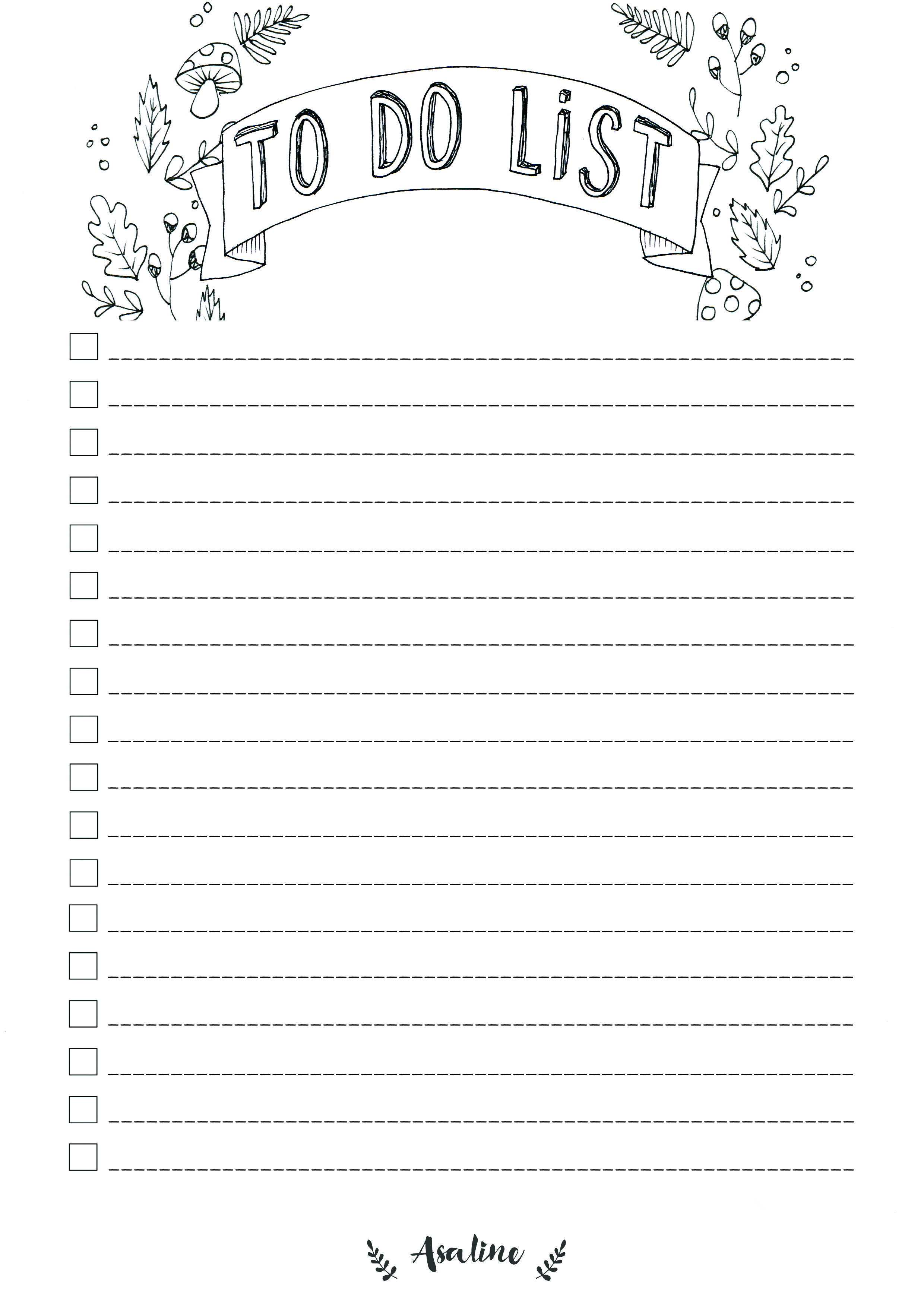 Exceptionnel ASALINE-ILLUSTRATIONS-to-do-list-gratuit-a-imprimer-free-printable  RR63